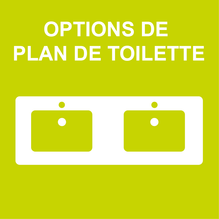 Options de plan de toilette