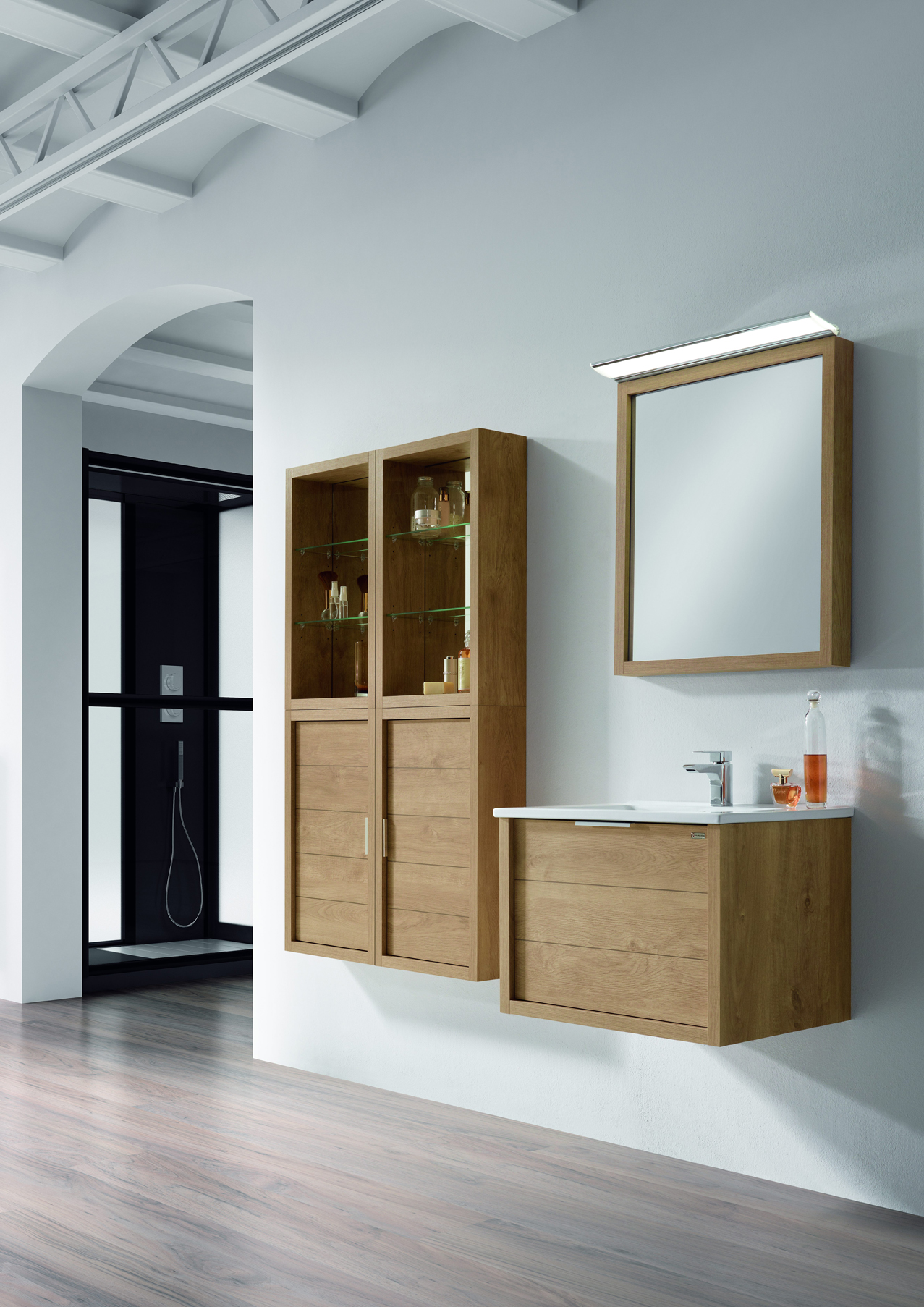 meuble de salle de bains trentino allibert belgique. Black Bedroom Furniture Sets. Home Design Ideas