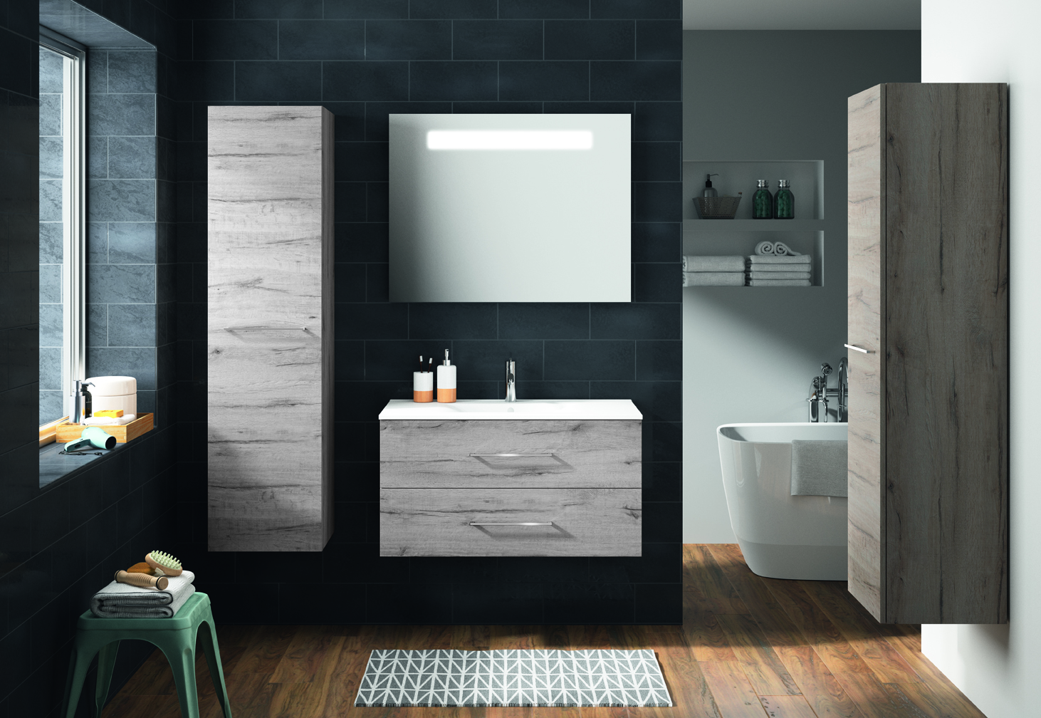 meuble de salle de bain verone allibert belgique. Black Bedroom Furniture Sets. Home Design Ideas
