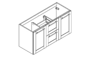 Coventry meuble sous-plan de toilette 120 cm